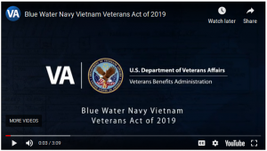 Blue Water Navy Vietnam Veterans Act Goes Into Effect January 1st – Details