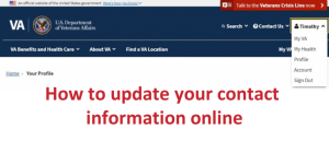 Veterans can now update their contact information online